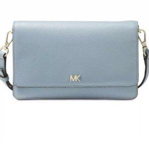 Michael kors powder blue wallet bag crossbody